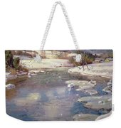 Valley Stream In Winter Weekender Tote Bag