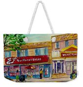 Van Horne Bagel And Yangtze Restaurant Sketch Weekender Tote Bag
