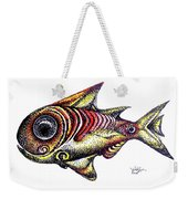 Variegated Red Fish In Stipple Weekender Tote Bag