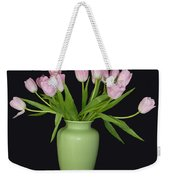 Vase Of Pink Tulips Weekender Tote Bag