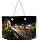 Vegas Light Trails Weekender Tote Bag