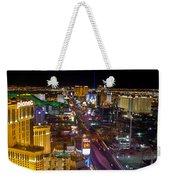 Vegas Strip At Night Weekender Tote Bag
