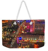 Vegas Strip Weekender Tote Bag