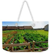 Vegetable Farm Weekender Tote Bag by Carlos Caetano