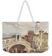 Venice: Rialto, 1833 Weekender Tote Bag