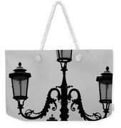 Venitian Lamp Posts Bw Weekender Tote Bag
