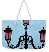 Venitian Lamp Posts Venice Italy Weekender Tote Bag