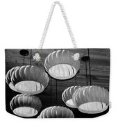 Vented Lights In Black And White Weekender Tote Bag
