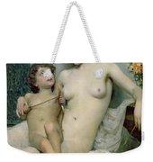 Venus And Cupid Weekender Tote Bag by Solomon Joseph Solomon