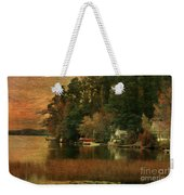 Vermont Autumn Shoreline Weekender Tote Bag