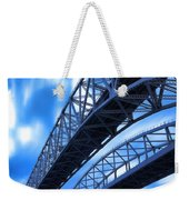 Very Blue Water Bridge  Weekender Tote Bag