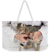 Vet Clipping Kittens Claws Weekender Tote Bag