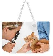Vet Examining Kitten Weekender Tote Bag