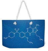 Viagra Molecular Structure Blueprint Weekender Tote Bag