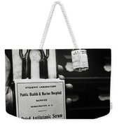 Vials Of Tetanus Antitoxin Weekender Tote Bag