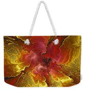 Vibrant Red And Gold Weekender Tote Bag