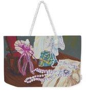 Victorian Lace Weekender Tote Bag