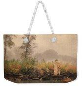 Victorian Lady By Row Boat Weekender Tote Bag