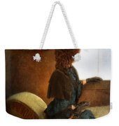 Victorian Lady Gazing Out The Window Weekender Tote Bag