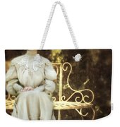 Victorian Lady On Garden Bench Weekender Tote Bag
