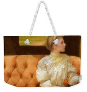 Victorian Lady Riding In A Carriage Weekender Tote Bag