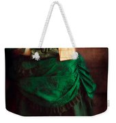 Victorian Lady With Letters Weekender Tote Bag