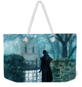Victorian Woman At The Churchyard Gate Weekender Tote Bag