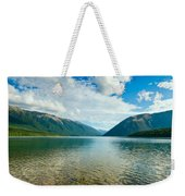 View Above A Beautiful Lake During Mid Day Weekender Tote Bag