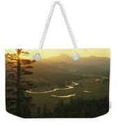 View At Dawn Of The Tuolumne River Weekender Tote Bag