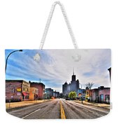 View Down Broadway Into Downtown Buffalo Ny Weekender Tote Bag