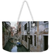 View Of A Canal In A Quiet Residential Weekender Tote Bag