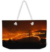 View Of A Forest Fire Near Boise, Idaho Weekender Tote Bag