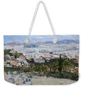 View Of Athens From Acropolis Weekender Tote Bag