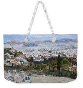 View Of Athens From Acropolis Weekender Tote Bag
