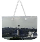 View Of Cable Car And Skyline From The Tiger Sky Tower In Sentos Weekender Tote Bag