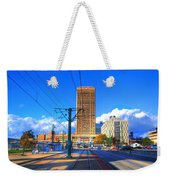 View Of Downtown Buffalo From The Tracks Weekender Tote Bag