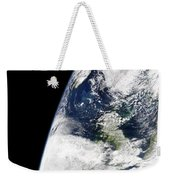 View Of Earth From Space Showing Weekender Tote Bag by Stocktrek Images