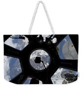 View Of Earth Through The Cupola Weekender Tote Bag