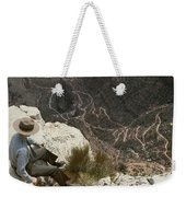View Of Hiking Trails From High Above Weekender Tote Bag