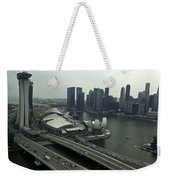 View Of Marina Bay Sands And Other Buildings From The Singapore  Weekender Tote Bag