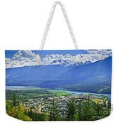 View Of Revelstoke In British Columbia Weekender Tote Bag