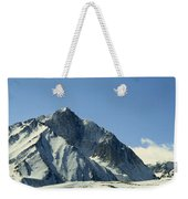 View Of Snow-covered Mountain Ridges Weekender Tote Bag