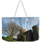 View Of St Mary Church And Clouds In Dover Castle Weekender Tote Bag