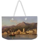 View Of Taormina Sicily Weekender Tote Bag