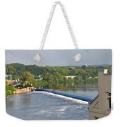 View Of The Fairmount Dam  Weekender Tote Bag