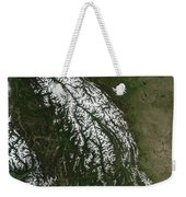 View Of The Rocky Mountains Weekender Tote Bag by Stocktrek Images
