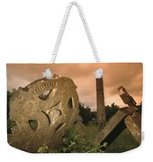View Of The Round Tower And Gravestones Weekender Tote Bag
