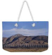 View Of Windmill Structures On A Wind Weekender Tote Bag