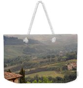 View Over The Tuscan Hills From San Gimignano Italy Weekender Tote Bag