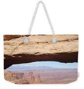 View Through Mesa Arch Weekender Tote Bag